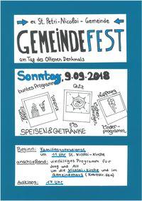Gemeindefest St. Petri-Nicolai Gemeinde @ Um die Nicolai Kirche und im Gemeindehaus