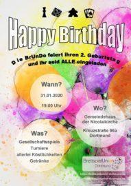Flyer Einladung BrUnDo 2. Jubiläum